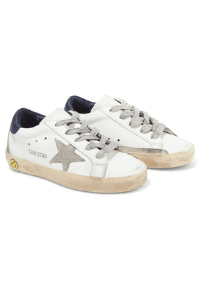 Golden Goose Kids - Sizes 19 - 27 Superstar Distressed Leather And Suede Sneakers
