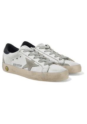 Golden Goose Kids - Size 28 - 35 Superstar Distressed Leather And Suede Sneakers