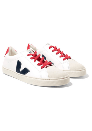 Veja Kids - Size 36 - 39 Esplar Leather And Suede Sneakers