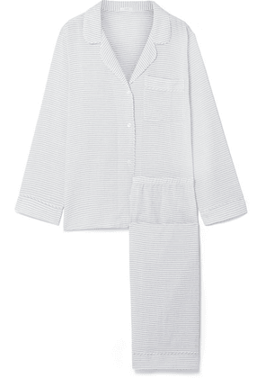Eberjey - Nautico Striped Cotton-blend Voile Pajama Set - Light blue