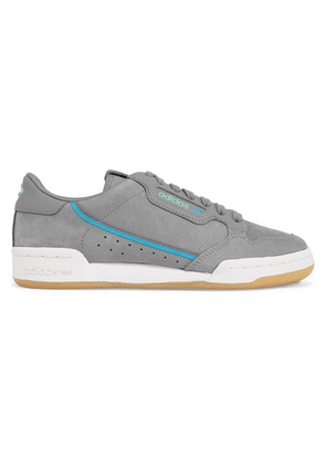 adidas Originals - + Tfl Continental 80 Canvas-trimmed Leather And Suede Sneakers - Gray