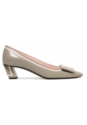 Roger Vivier - Belle Vivier Graphic Leather Pumps - Mushroom