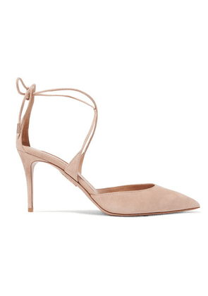 Aquazzura - Very Matilde 85 Suede Pumps - Antique rose