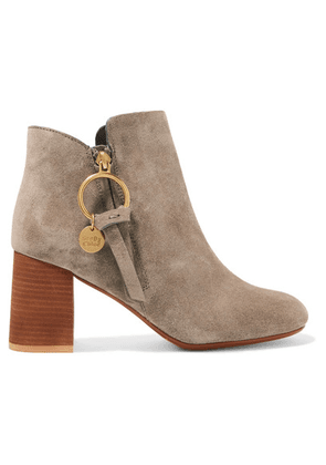 See By Chloé - Suede Ankle Boots - Taupe