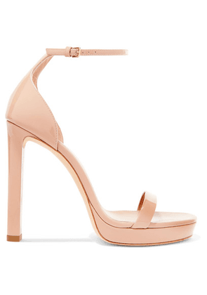 SAINT LAURENT - Hall Patent-leather Platform Sandals - Neutral