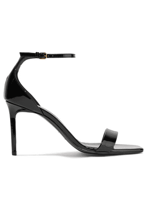 SAINT LAURENT - Amber Patent-leather Sandals - Black