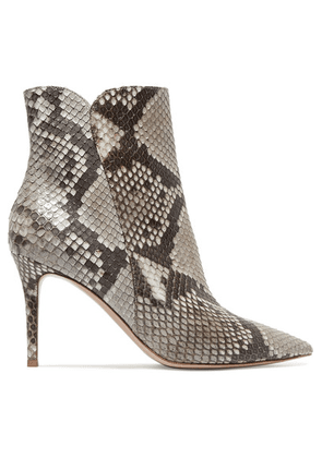 Gianvito Rossi - Levy 85 Python Ankle Boots - Snake print