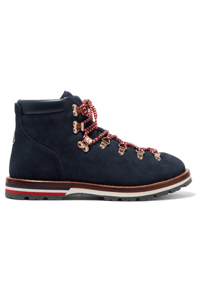 Moncler - Blanche Shearling-lined Suede Ankle Boots - Navy