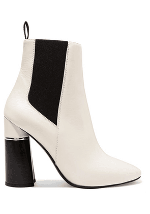 3.1 Phillip Lim - Drum Leather Ankle Boots - White