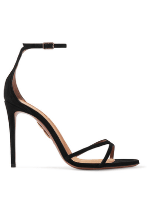 Aquazzura - Purist Suede Sandals - Black