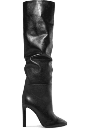 SAINT LAURENT - Kate Leather Knee Boots - Black