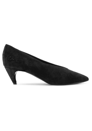 Roger Vivier - Choc Real Suede Pumps - Black