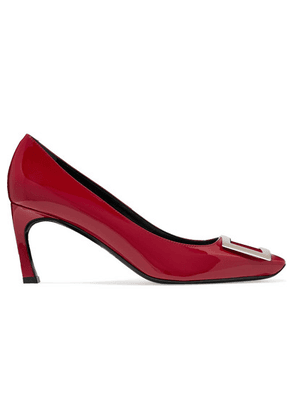 Roger Vivier - Belle Vivier Trompette Patent-leather Pumps - Red