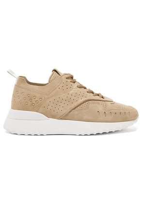 Tod's - Perforated Suede Sneakers - Sand