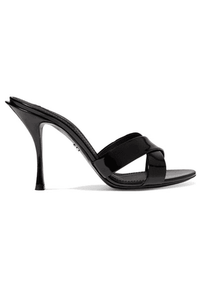Dolce & Gabbana - Patent-leather Mules - Black