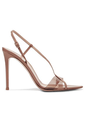 Gianvito Rossi - 105 Leather And Pvc Sandals - Neutral