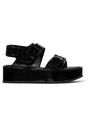 Ann Demeulemeester - Buckled Patent-leather Platform Sandals - Black