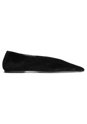 aeyde - Moa Suede Point-toe Flats - Black