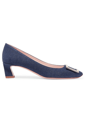 Roger Vivier - Trompette Denim Pumps - Mid denim