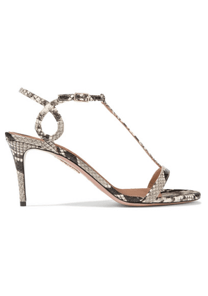 Aquazzura - Almost Bare 75 Watersnake Sandals - Snake print
