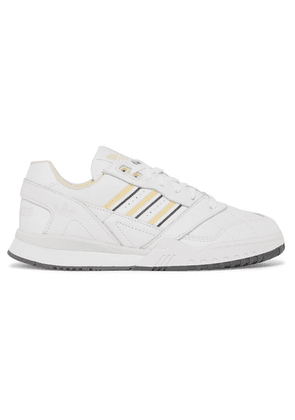 adidas Originals - A.r. Trainer Grosgrain-trimmed Leather Sneakers - White