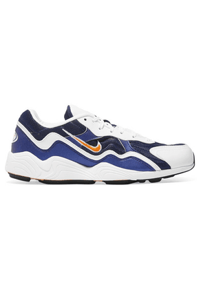 Nike - Zoom Alpha Leather And Mesh Sneakers - Navy