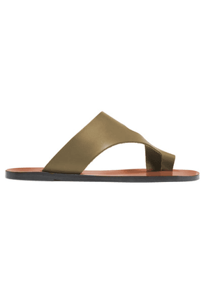 ATP Atelier - Roma Cutout Leather Sandals - Army green