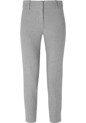 J.Crew - Cameron Cropped Cady Tapered Pants - Gray