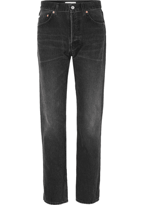 Balenciaga - Distressed High-rise Straight-leg Jeans - Black