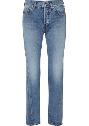 Balenciaga - Twisted High-rise Straight-leg Jeans - Mid denim