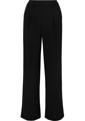Vince - Satin-crepe Wide-leg Pants - Black