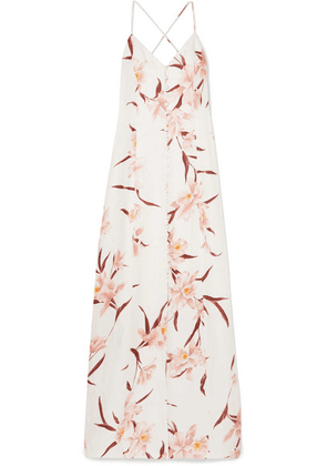 Zimmermann - Corsage Floral-print Linen Maxi Dress - Blush