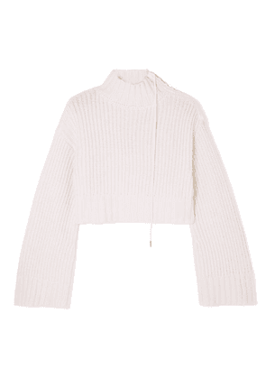 Dion Lee - Aviation Cropped Ribbed Wool-blend Turtleneck Sweater - Ivory