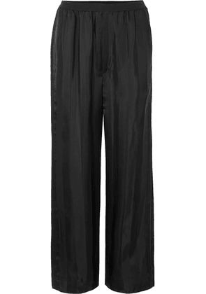 Marc Jacobs - Striped Satin-jacquard Pants - Black