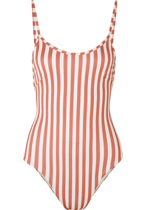 Haight - Striped Swimsuit - Antique rose