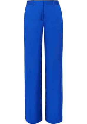Equipment - Arwen Satin Wide-leg Pants - Blue