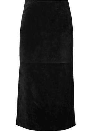 SAINT LAURENT - Suede Midi Skirt - Black