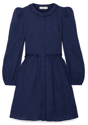 MICHAEL Michael Kors - Embroidered Cotton-voile Mini Dress - Navy