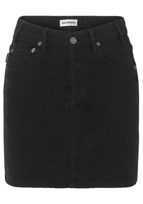 Balenciaga - Denim Mini Skirt - Black