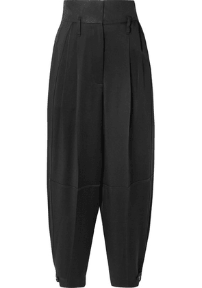 Givenchy - Gabardine-paneled Satin-crepe Tapered Pants - Black