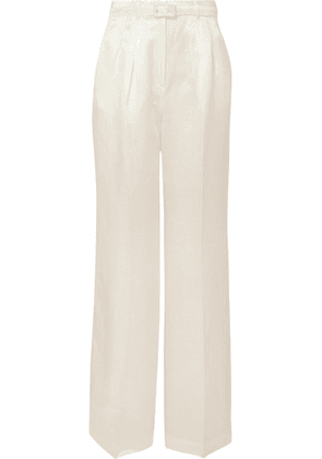 Gabriela Hearst - Vargas Linen And Silk-blend Wide-leg Pants - Ivory