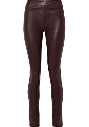 Helmut Lang - Leather Skinny Pants - Merlot