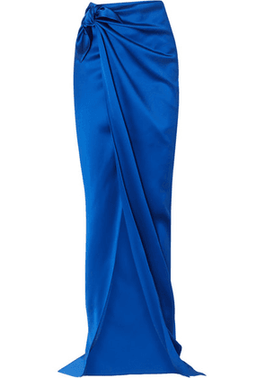 Balenciaga - Satin Wrap Maxi Skirt - Blue