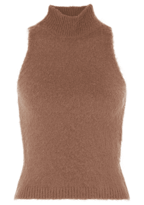 Versace - Knitted Turtleneck Top - Brown