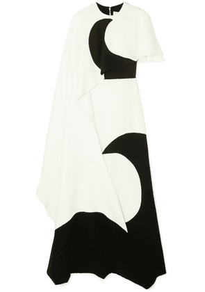 Valentino - Layered Printed Silk-jersey Gown - Ivory