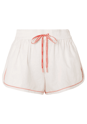 Zimmermann - Eyes On Summer Linen And Cotton-blend Shorts - Ivory
