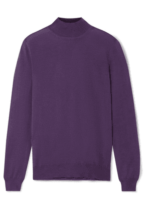 TOM FORD - Cashmere And Silk-blend Turtleneck Sweater - Grape