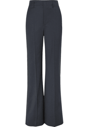 Joseph - Ido Pinstriped Wool-blend Straight-leg Pants - Navy