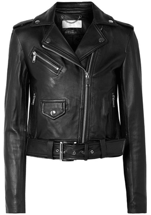 MICHAEL Michael Kors - Leather Biker Jacket - Black
