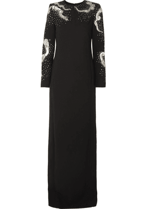 Givenchy - Embellished Wool-crepe Gown - Black